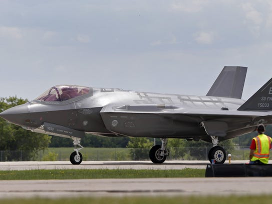 The Lockheed Martin F-35 Lightning II during AirVenture
