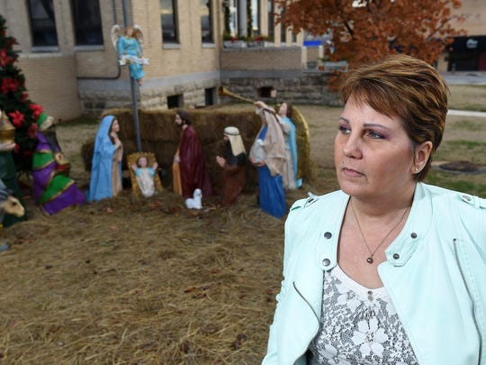 Dessa Blackthorn, of Mountain Home, filed a lawsuit challenging a nativity scene displayed on the Baxter County Courthouse lawn. It's scheduled for a federal trial date in October.