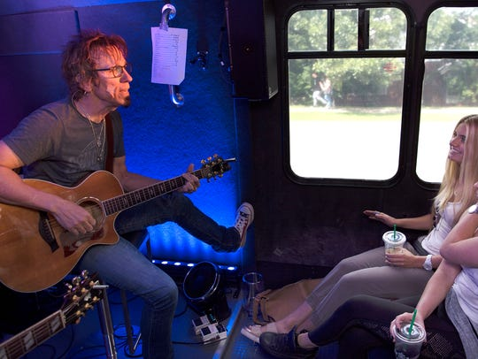 Songwriter Trey Bruce performs on SongBird Tours, a