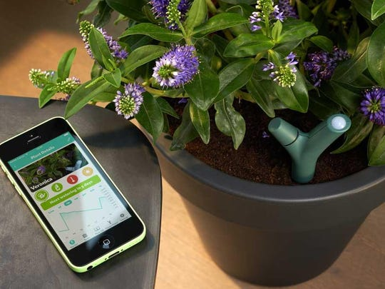 Parrot will send you alerts if you plants need attention.
