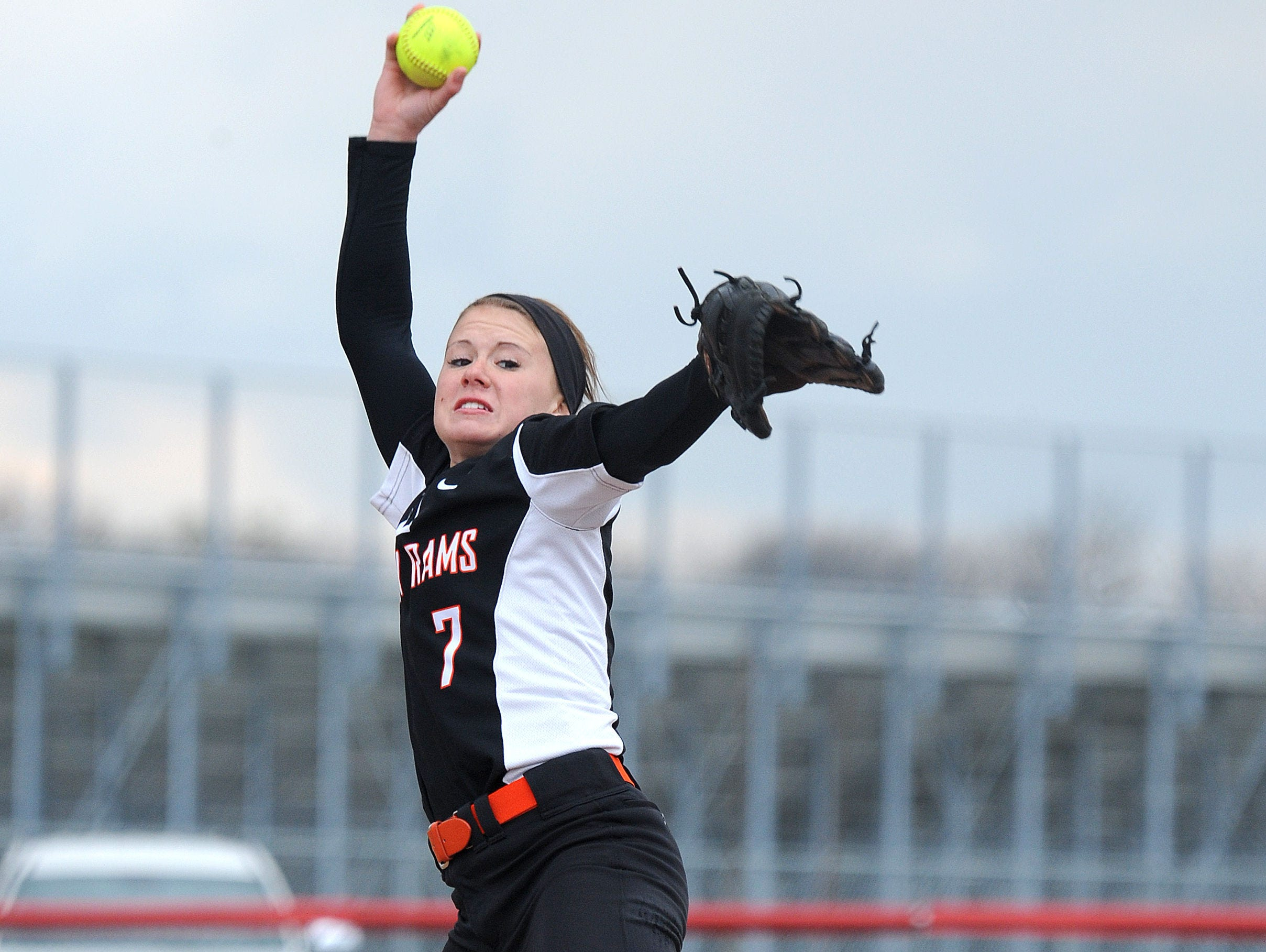 Upper Sandusky's Blayc Hacker pitches their game against Bucyrus Wednesday evening. Hacker pitched a no hitter.