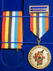 Korean War veteran Robert Houghton received this medal.