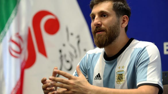 A soccer fan in Iran looks stunningly identical to Lionel Messi