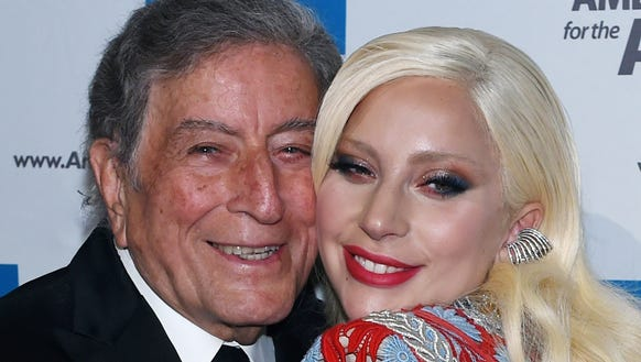 Watch Lady Gaga and Tony Bennett meet cute at Barnes and Noble