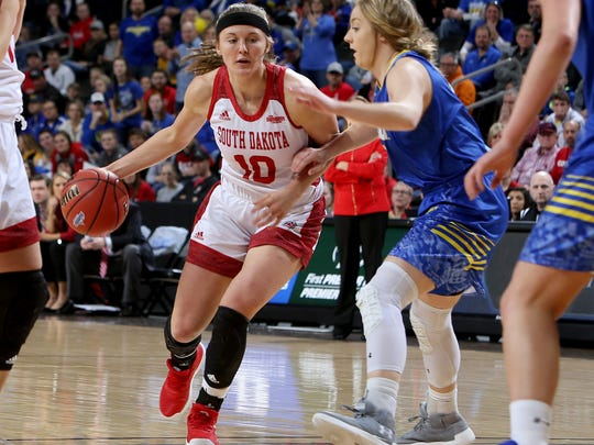 SIOUX FALLS, SD - MARCH 6:  Allison Arens #10 of South