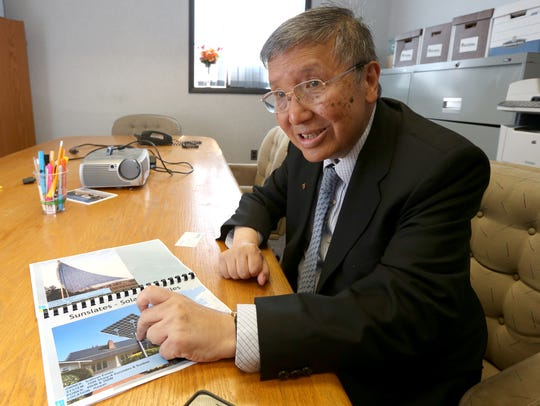 Frank Pao gives a tour of Pao Lab in Poughkeepsie,
