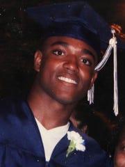 Jeffrey Bordeaux Jr. graduating from Brighton High