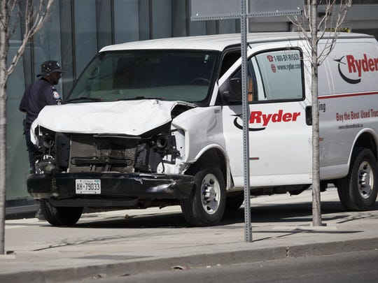 Rental Van Plows Into Pedestrians On Toronto Street, Injuring At Least Eight