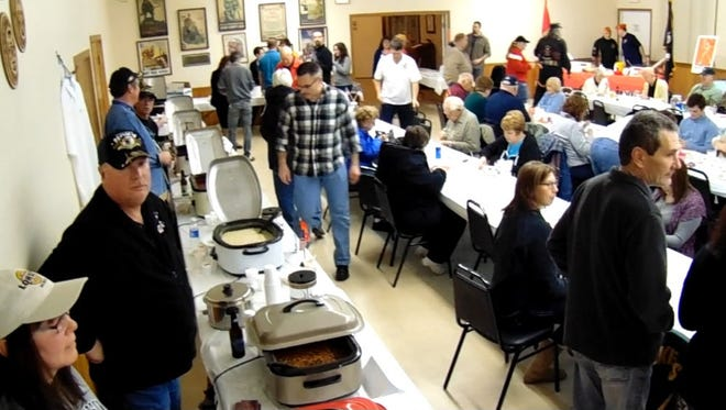 Community members take part in Navy Club Ship 75's first Chili Cook-Off in 2015. The third annual cook-off will take place on Jan. 21.