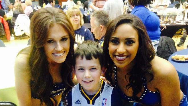 No surprise here. Trent Smith, 7, the kid with swag hangs out with Pacemates earlier this season.