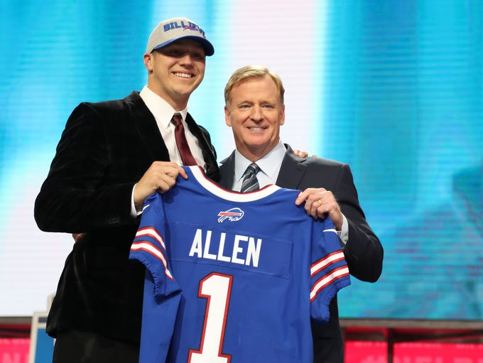 Apr 26, 2018; Arlington, TX, USA; Josh Allen is selected