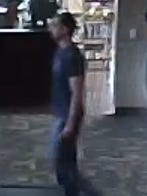 A surveillance photo depicting a man who allegedly exposed himself to a woman at Dakota Wesleyan University's McGovern Library on Thursday.