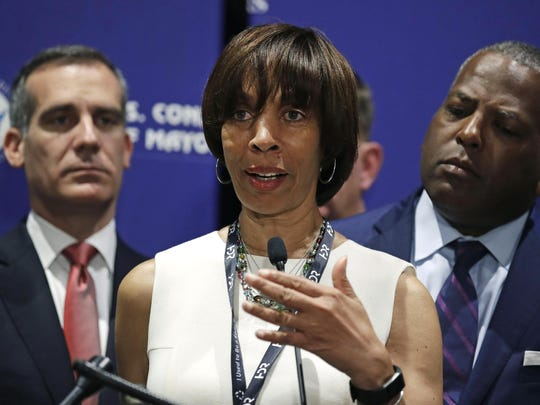 In this June 8, 2018 file photo, Baltimore Mayor Catherine