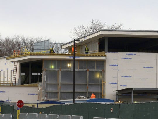 Bellin Health Sports Medicine & Orthopedics takes shape in the Green Bay Packers' Titletown District. Feb. 16, 2017.