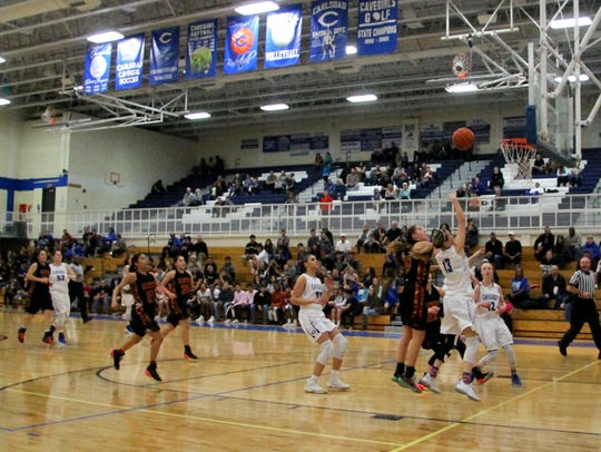 Lauryn Wade attempts a shot during Tuesday's game against
