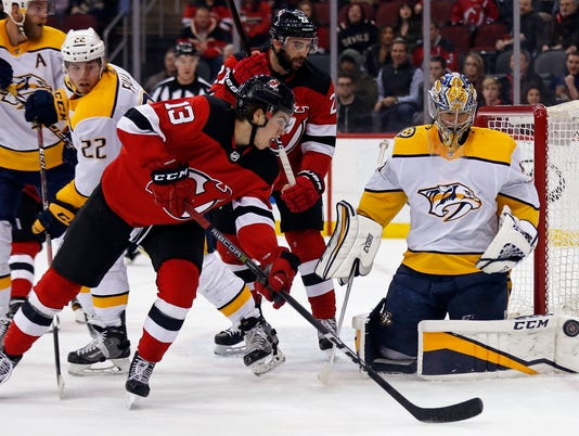 NHL: Nashville Predators at New Jersey Devils