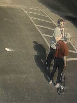 "Police suspect these two people served as lookouts for the person who vandalized the ""I Believe in Nashville"" mural in the 12South neighborhood."