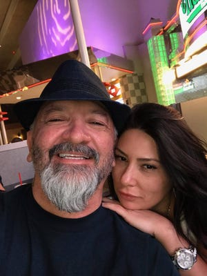 Former Alamogordo residents Ron Farmer and his girlfriend Amber Vasquez snapped this photo about 15 minutes before the deadly mass shooting in Las Vegas, Nevada on Sunday.