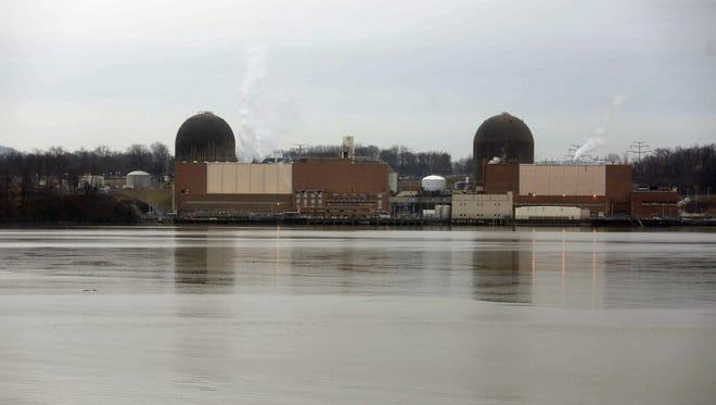 The Indian Point nuclear power plant, seen from Tomkins Cove in Rockland County, photographed Jan. 17, 2017. Earlier in the month, Gov. Cuomo announced that the power plant would close in 2021.