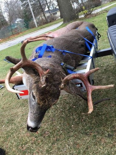 Joe Angus of Oconto Falls got this eight-pointer in