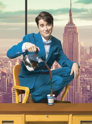 """Sam Bolen stars as J. Pierrepont Finch in the Maltz's """"How to Succeed in BusinessWithout Really Trying,"""" which begins March 17."""