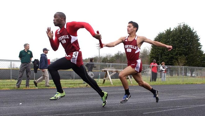 The Asheville boys won the team championship at Tuesday's Buncombe County track meet in Weaverville.