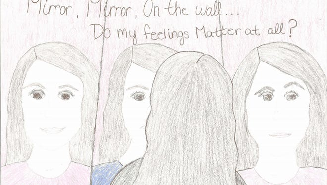 "This poster by Madison Robertson won first place among Wisconsin students grades 6-8 in 2014. The ""My Feelings Matter"" contest was organized by the Children's Mental Health Matters Coalition."
