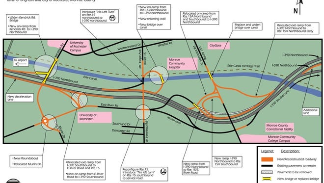 A rendering of the Access 390 Interchange 16 project.