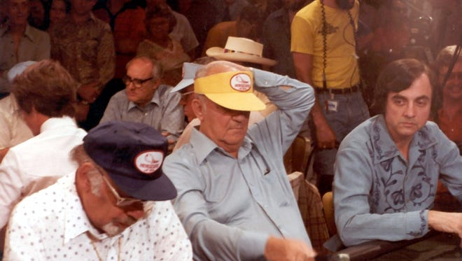 "Brian ""Sailor"" Roberts of San Angelo is shown during the 1979 World Series of Poker main event."