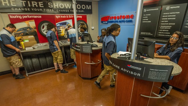 Firestone has incorporated Maplewood High School's automotive training center, where students will gain experience to become career-ready.