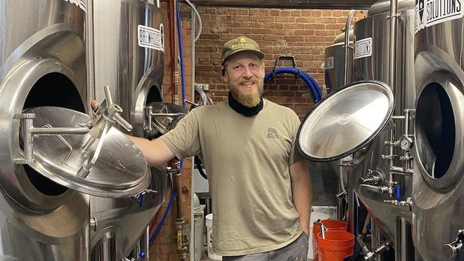 Peter LaPlante, brewer and owner, will open the Back Hill Beer Company in the historic Gonic Mill on Saturday, Sept. 26.