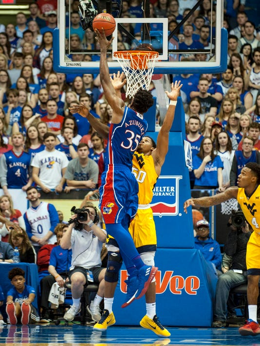 USP NCAA BASKETBALL: WEST VIRGINIA AT KANSAS S BKC KAN WVA USA KS