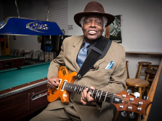 Governor Davis breaks out his guitar in Valhalla where he will have a show on Thursday for his 70th birthday. Davis plays a Chicago style blues and styles himself with a signature hat and neatly pressed suit, setting a persona he has had for a long time.