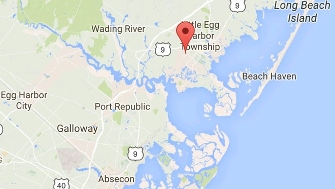 Ocean County plans to preserve more than 80 acres at the tip of the red pin illustrated on this Google map.