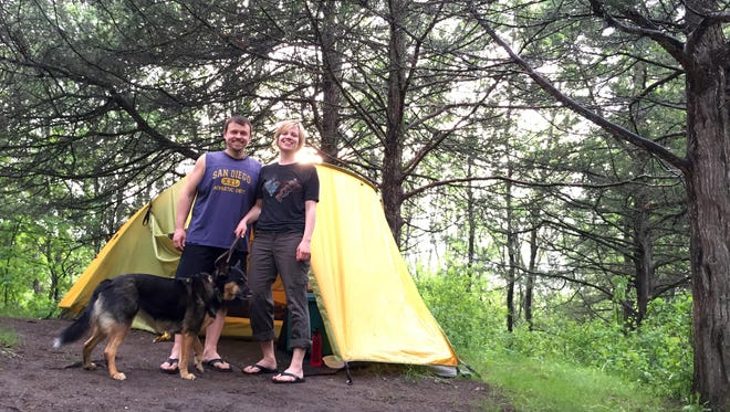 Kyle and Amanda Johnston of Detroit Lakes are always looking to upgrade their gear. When they're not camping, he's director of admissions for Minnesota State Colleges and Universities; she runs a dog grooming business. They've done Boundary Waters Canoe Area Wilderness camping.