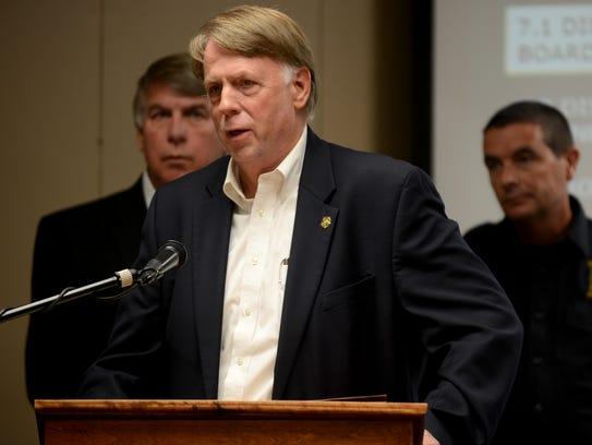 Madison County Sheriff John Mehr spoke to the Jackson-Madison