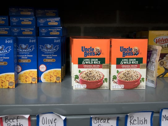 Non-perishables are in the pantry at CASHS. Students