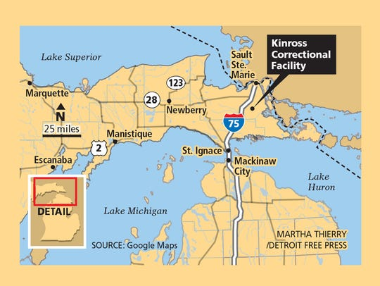 The Kinross Correctional Facility is located in Michigan's