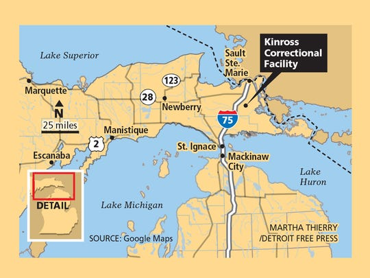 The Kinross Correctional Facility is located in Michigan's Upper Peninsula.