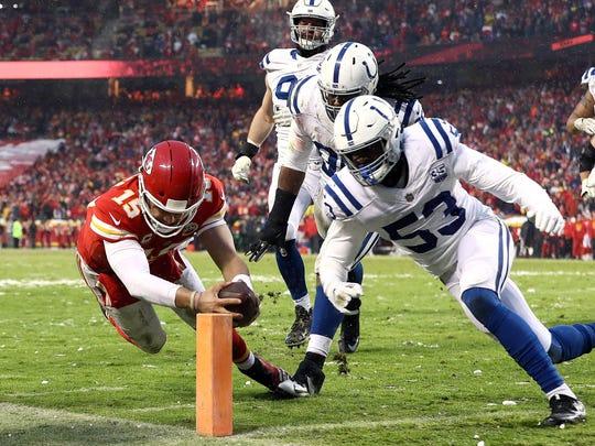 Los Jefes de Kansas City le pasaron por encima a los Colts