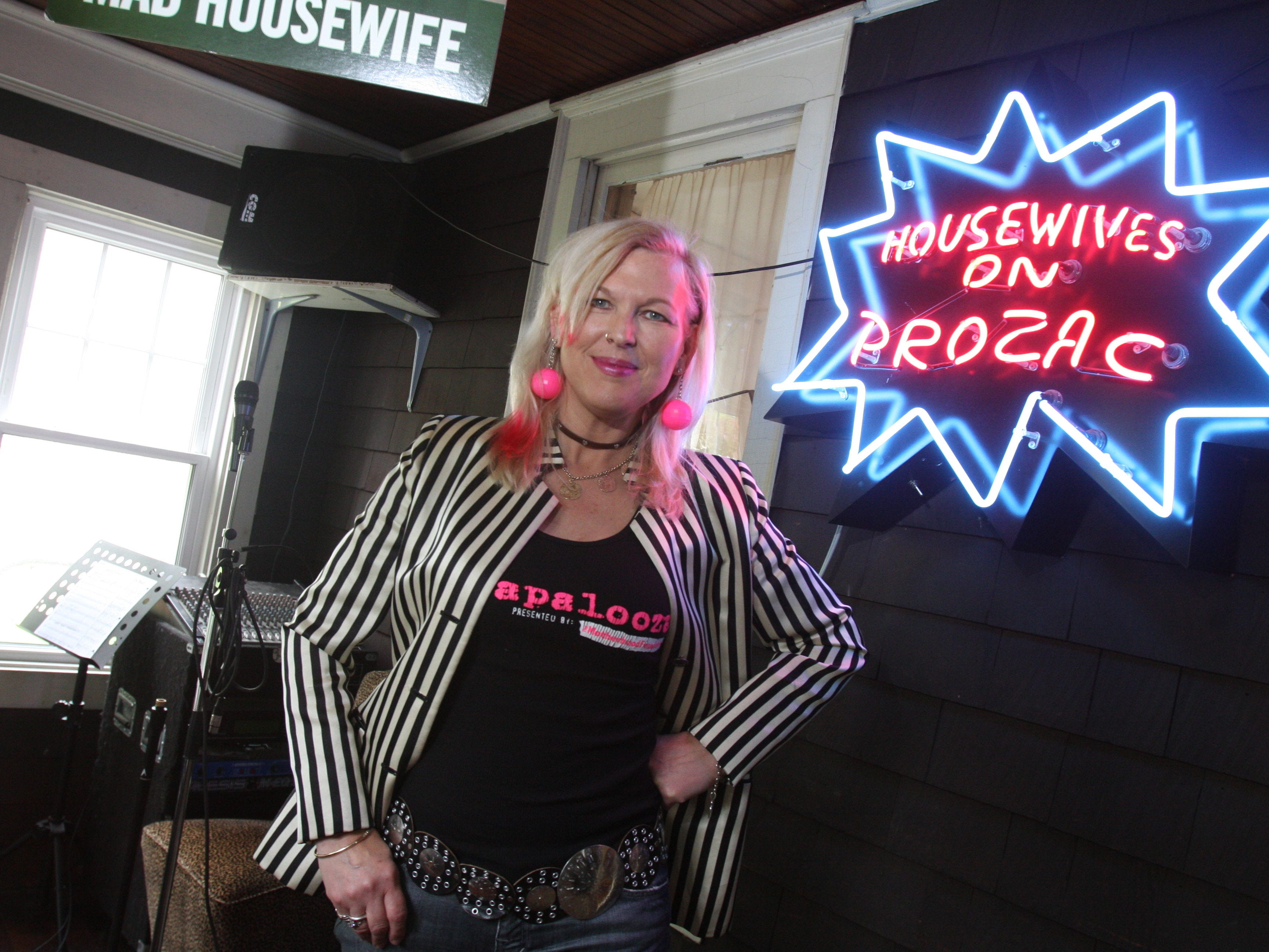 Ali Marpet's mother Joy Rose, of the band Housewives on Prozac, is also the founder of Mamapalooza, an event that celebrates the power of mothers.