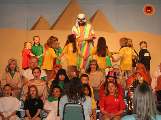 "Trinity Lutheran School in Menasha recently held its annual spring musical and silent auction. This year's performance was ""Joseph From the Pit to the Palace."""