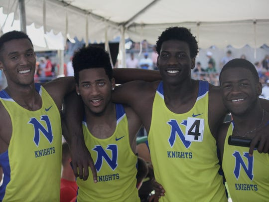 In 2015, Northwest's 4x100 relay won a state title at the Division I state meet. They are, from left: Myles Pringle, Jordan Booker, Malik Beverly and DeVohn Jackson.