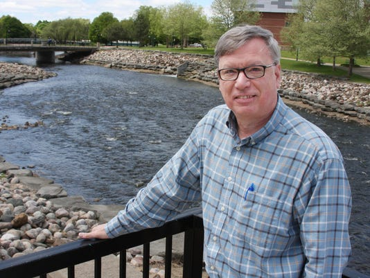 Chuck Carlson on Battle Creek River