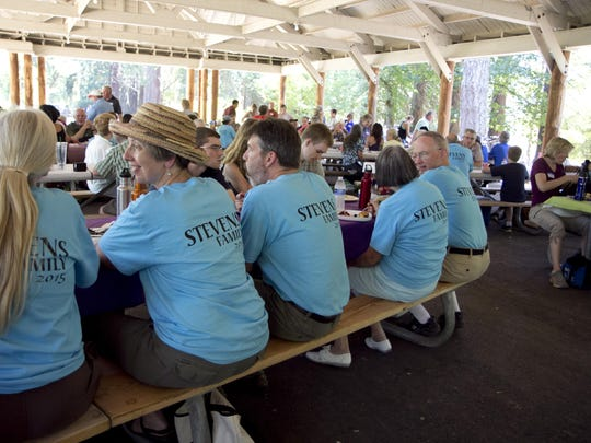 The Steven family held its most recent reunion on July 19, 2015, at Champoeg State Heritage Area.