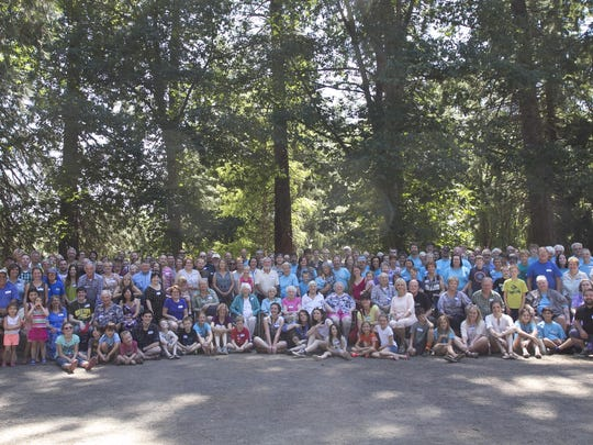 The most recent Stevens family reunion drew 196 people on July 19, 2015, at Champoeg State Heritage Area.