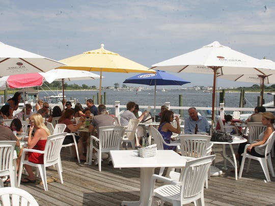 It is all about outdoor dining at Brielle River House, which overlooks the Manasquan River.