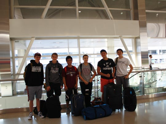 University of Detroit Jesuit students, from left to right: Peter Chekal, Dawson Myers, Josh Gonzalez, Carlos Pages, Noah Tylutki and Sean Butler.