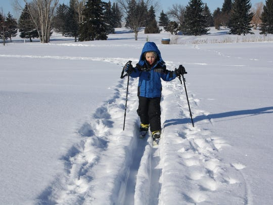 Even the kids can make cross-country skis work.
