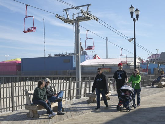 Owners of the Casino Pier in Seaside Hts are trying to arrange a land swap with the town so they can enlarge the pier—March 9, 2016-Seaside Hts, NJ.-Staff photographer/Bob Bielk/Asbury Park Press